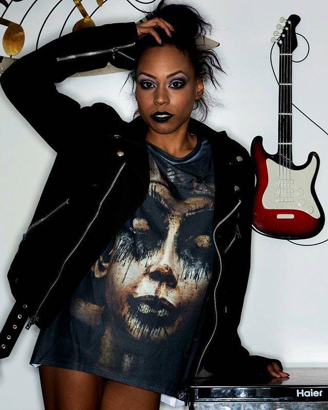 """Damned In Black"" Tee Available at www.crmc-clothing.co.uk | WE SHIP WORLDWIDE Model - @evie_cherrie Photography by @jstyle59 #blackmetal #pharaoh #pharaohs #alternative #ancientegypt #fashionstatement #tutankhamun #rock #fashionista #goldandblack #blackmetalgirl #alternativeblackgirl #blackmodel #blackgirlsrock #beautifulblackwomen #cute #need #beautiful #want #darkwear #style #alternativegirl #alternativeteen #blackwear #ilovewearingblack #iloveblack #love #loveblack"