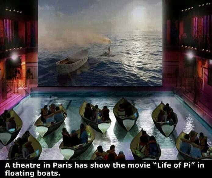 Theatre in Paris - Seats with floating boats
