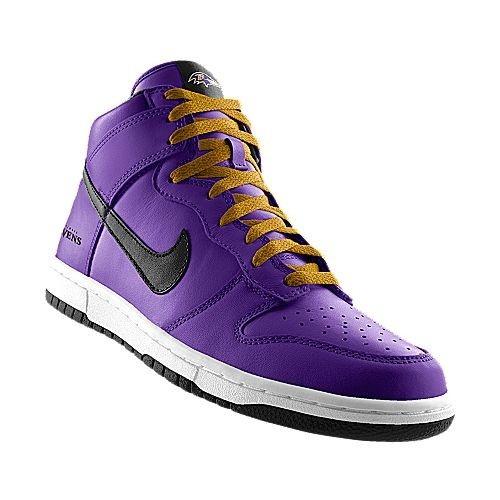 Baltimore Ravens NFL Nike Dunk High iD Shoes
