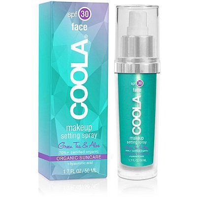Coola SPF 30 Organic Matte Makeup Setting Spray; shield skin and set makeup