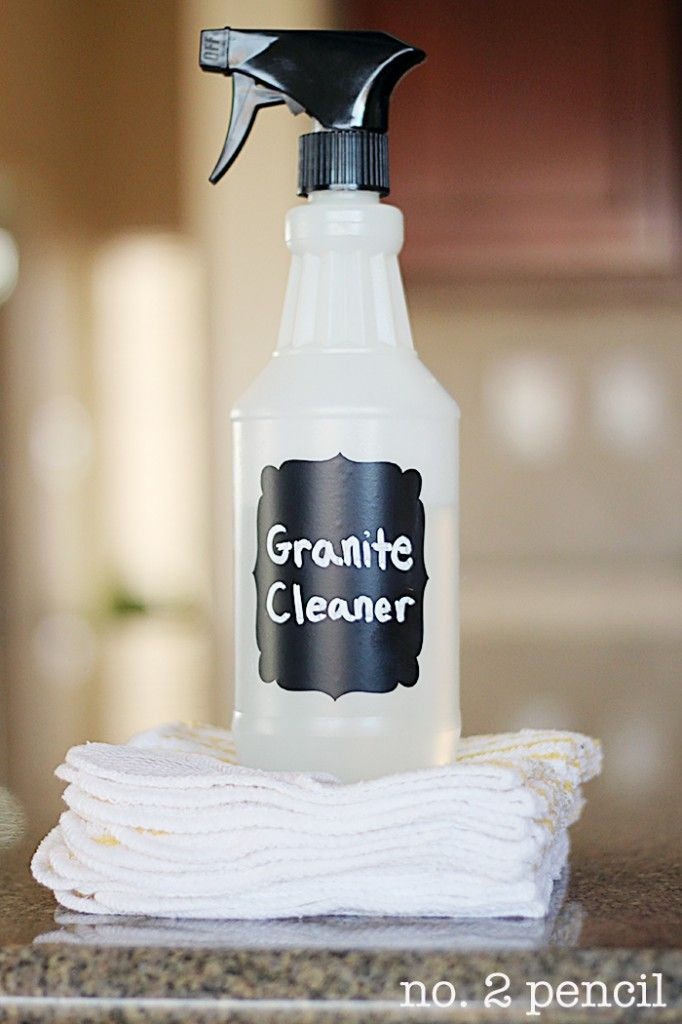 Homemade Granite Cleaner - I make this recipe and use it daily. It's awesome!  I add a few drops of essential oil.