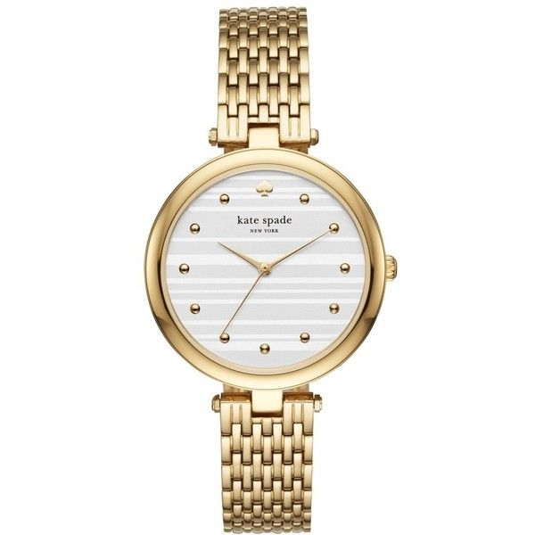 Women's Kate Spade New York Varick Bracelet Watch, 36Mm ($250) ❤ liked on Polyvore featuring jewelry, watches, fancy watches, fancy jewellery, kate spade watches, watch bracelet and bracelet watch