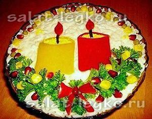 Салаты на рождество в германии