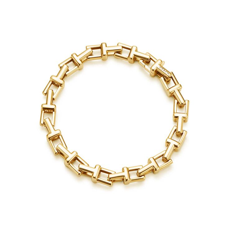 Tiffany T chain bracelet in 18k gold, small.