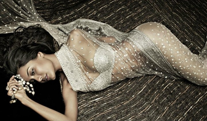 I want. Crystal Embellished Tarun Tahiliani Saree.
