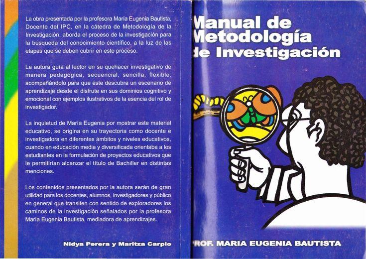 Manual de Metodologia de la investigacion  Aspectos fundamentales de la metodologia de la investigacion q brindan orientaciones para elaborar proyectos y trabajos de investigacion