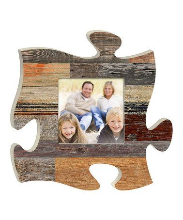 Look What I Found On Zulily Wood Puzzle Piece Photo Frame