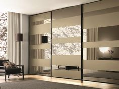 Lacquered wooden wardrobe with sliding doors SEGMENTA NEW MisuraEmme Collection by MisuraEmme | design Mauro Lipparini