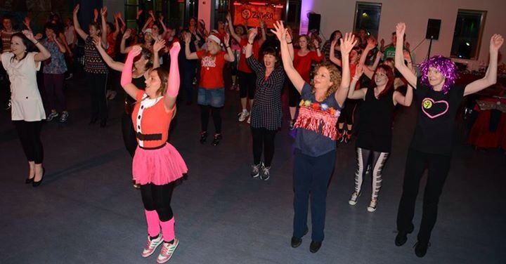 Fitness party people dancing the night away at our for Sideboard zumba