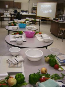 Foods 2 and Culinary Arts 1- knife skills units; I would almost like to go and re-do my knife skills lab again!