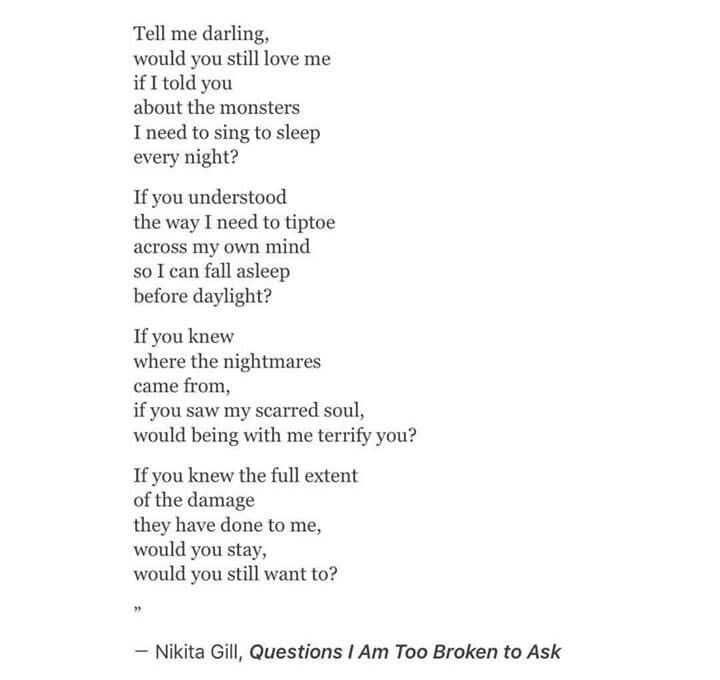 Questions I Am Too Broken To Ask | Nikita Gill