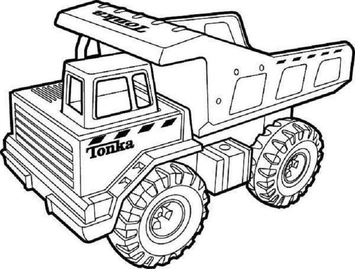 Tipper Truck Coloring Pages In 2020
