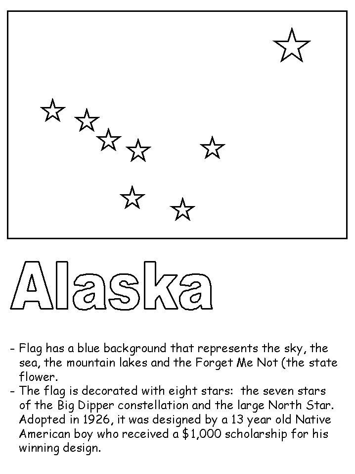 Alaska flag printable and facts