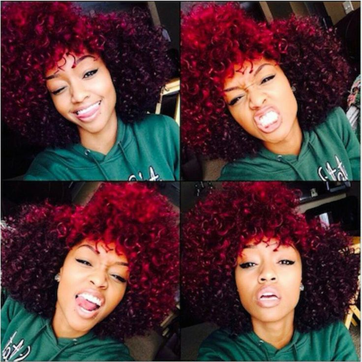RED NATURAL HAIR