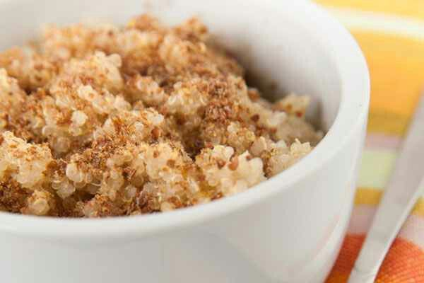 Cinnamon-Honey Quinoa (1 serving) Top 1 cup cooked quinoa with 1 tsp ...