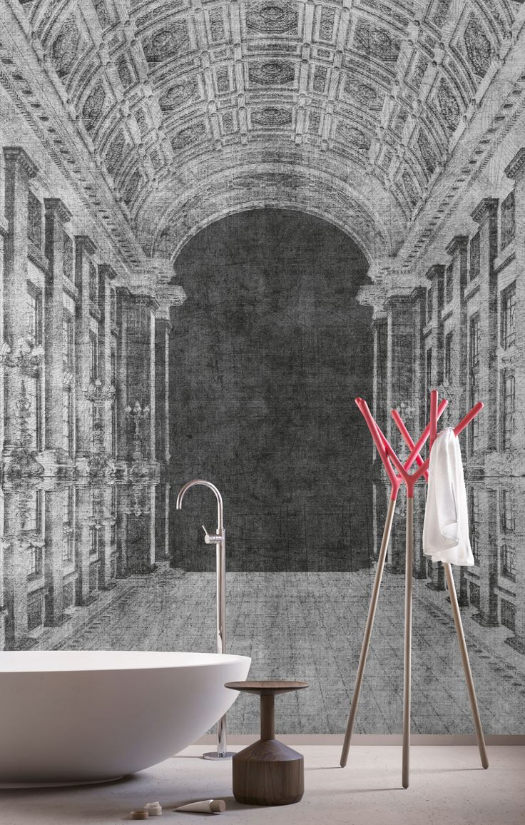 288 best wallpaper images on pinterest contemporary wallpaper wallpaper model the road designed by riccardo zulato for collection 15 london art 2015
