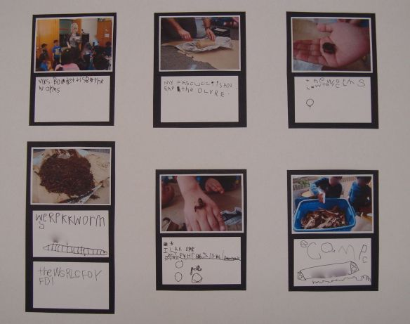 Students write their own captions for photographs - great way to build in meaningful and authentic writing
