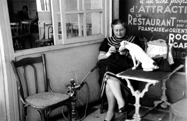 بديعة مصابني مع كلب نجيب الريحاني في قهوة فينكس عام 1949 بعد وفاة نجيب كانت تذهب كل يوم صباحا و تجلس هناك فى نفس الترا Youtube Celebrities Fictional Characters