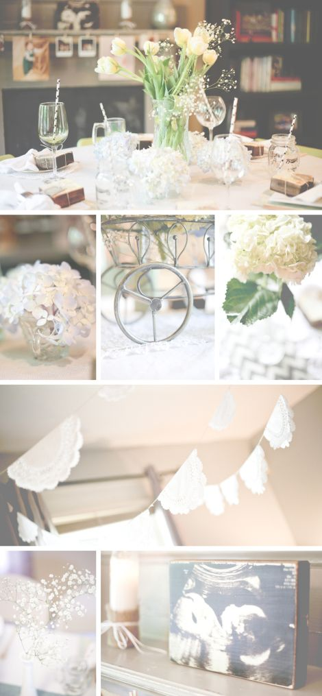 vintage shabby chic baby shower decor ideas