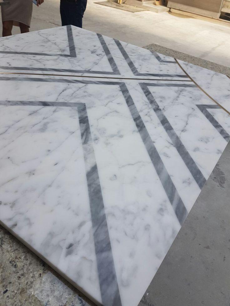 Bardiglio and statuarietto- floor