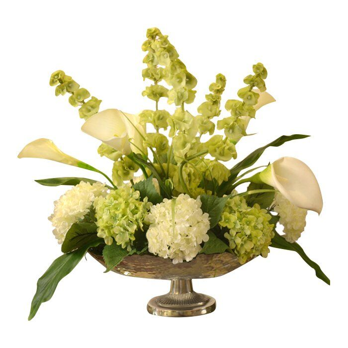 Mixed Centerpiece In Bowl Reviews Joss Main In 2020 Silk Flower Centerpieces Hydrangea Arrangements Silk Floral Centerpiece