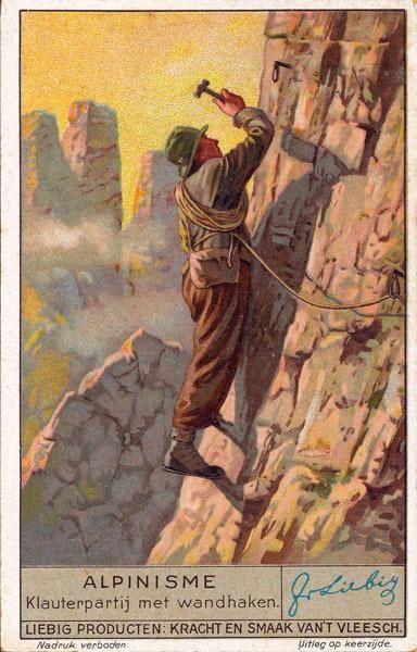 Vintage Alpine Climbing Poster - Piton