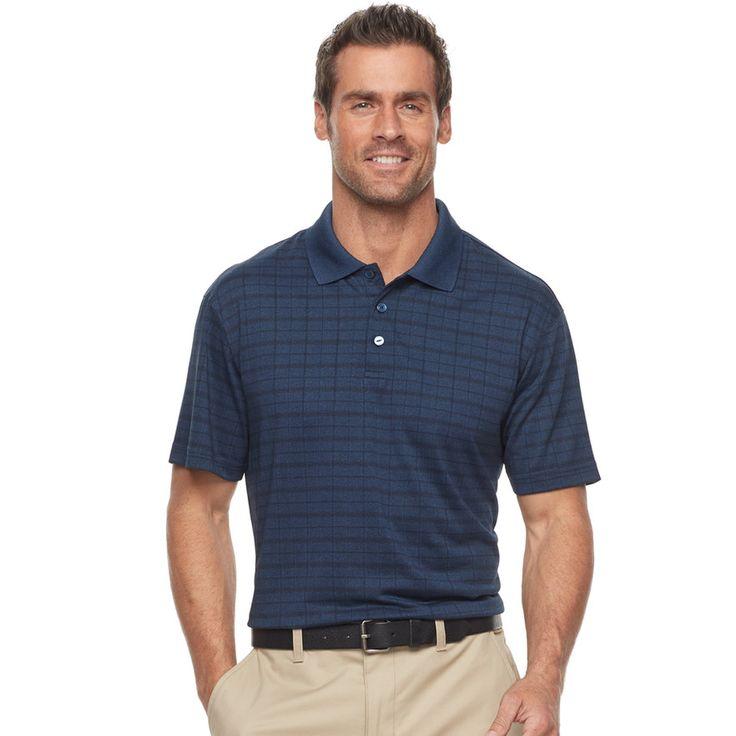 Men's Haggar® Cool 18® Regular-Fit Windowpane Performance Polo, Purple
