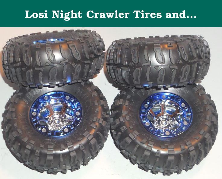 Losi Night Crawler Tires and Rims of Wheels (4). This is a new replacement set of Tries and Wheels for the Losi Night Crawler.