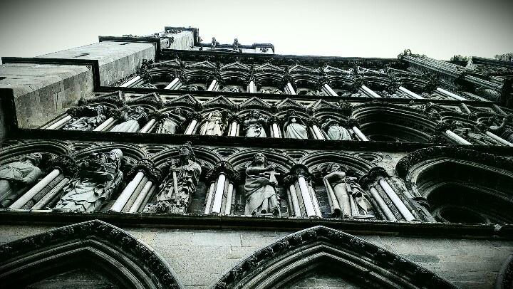 Part of facade of Nidarosdomen cathedral. www.visittrondheim.no