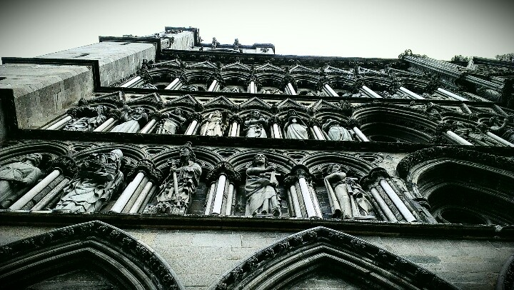 Part of facade of Nidarosdomen cathedral. www.visittrondheim.no