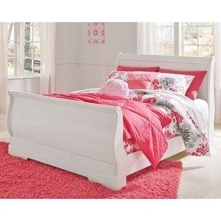 Best Anarasia White Sleigh Bed Queen Signature Design By 640 x 480