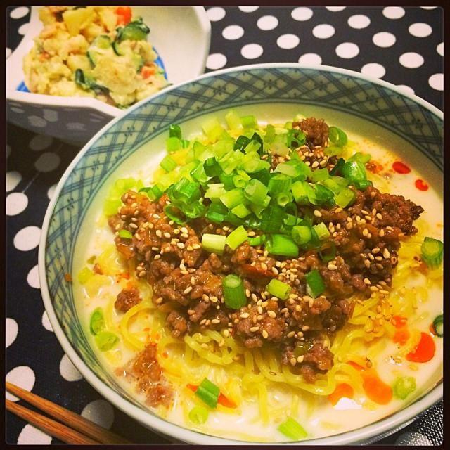 今日はラーメンで。最後はご飯入れて雑炊にした… 食べ過ぎです。 - 67件のもぐもぐ - おうち担々麺。 by cocoatea