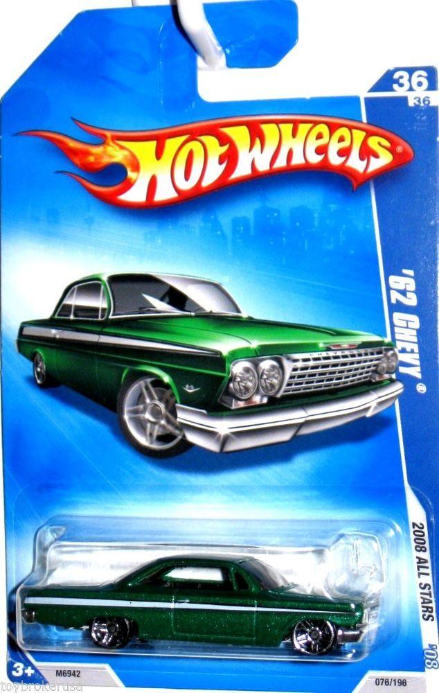 1962 Chevy Impala Coupe Hot Wheels 2008 All Stars #36/36 Green #HotWheels #Chevrolet