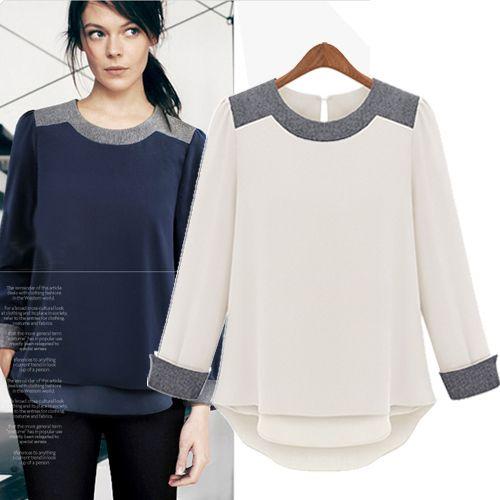 ... Collar Polka Dot Long Sleeve Slim Fit Black | Black Models Picture
