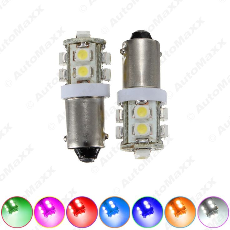 200PCS BA9S T4W W5W 1210/3528 10SMD Interior Car LED Light License Plate LED Lamp 7-Color#J-1507