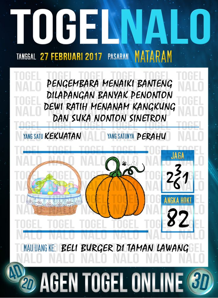 Lotre Taysen 4D Togel Wap Online Live Draw 4D TogelNalo Mataram 27 Februari 2017