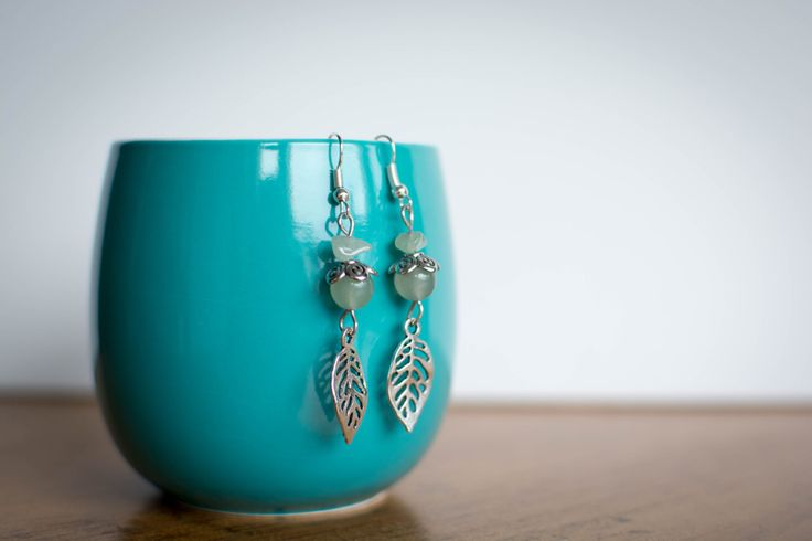 A personal favorite from my Etsy shop https://www.etsy.com/ca/listing/471684487/aventurine-leaf-earrings