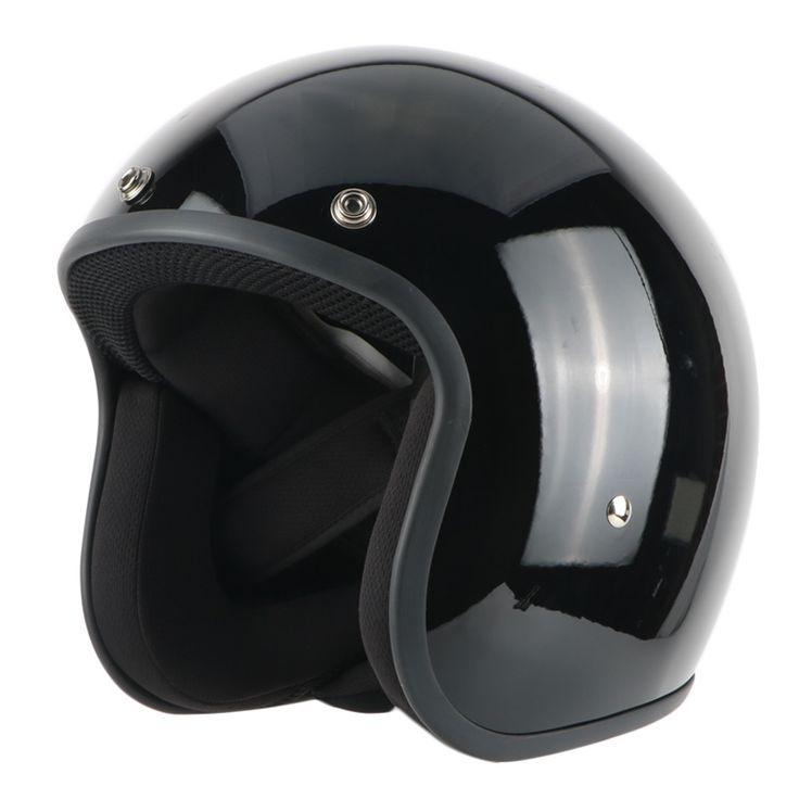 ==> [Free Shipping] Buy Best Free shipping motorcycle motorbike motorcross helmet 3/4 open FACE Retro Vintage Jet helmet Scooter Black Helmets DOT Online with LOWEST Price   32313868193