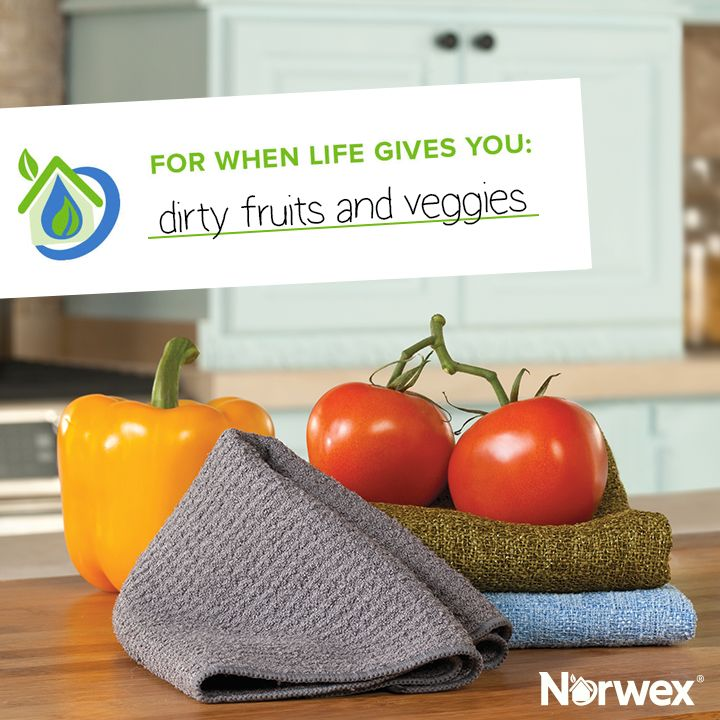 Did you know most produce come with a natural protective coating? Make sure you remove all that dirt, wax and debris with our two-sided Veggie & Fruit Scrub Cloth! The best part: You don't need to use toxic chemicals, just running water! Use the rough side for scrubbing and the smooth side for polishing
