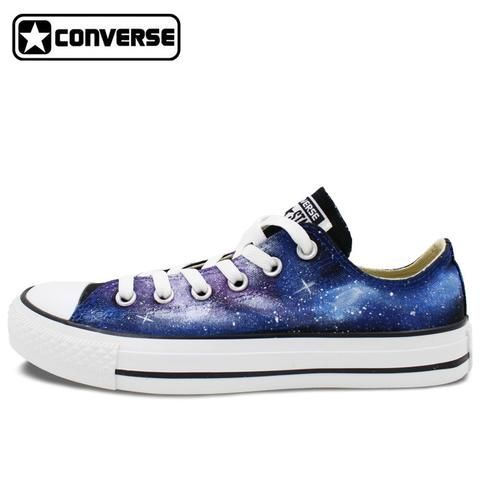 Men Women Converse Chuck Taylor Galaxy Stars Hand Painted Low Top Canvas  Sneaker Unique Birthday Gifts