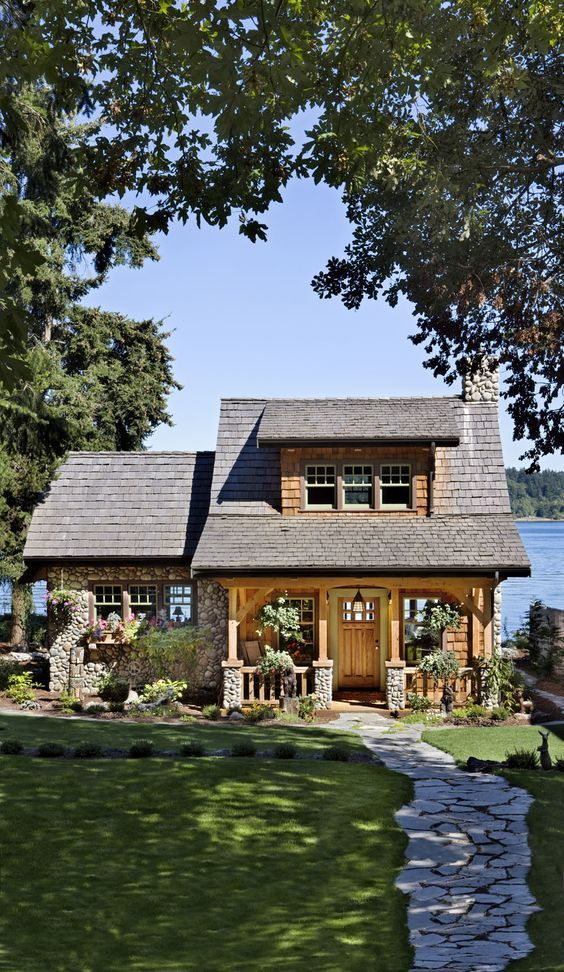Think small! This cottage on the Puget Sound in Washington is a beautiful example of a smart cabin design.:
