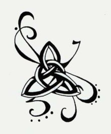 trinity knot tattoo... <3