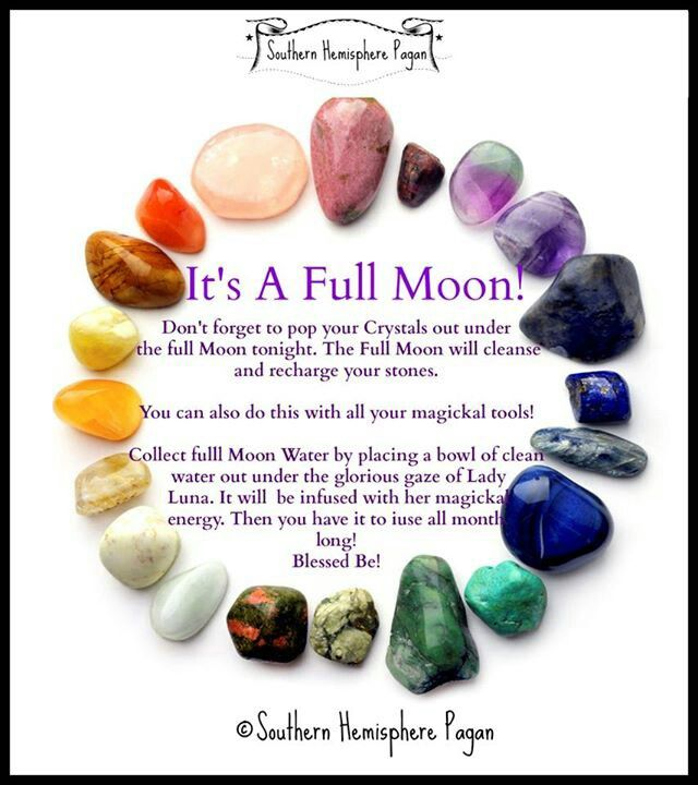 Use Full Moon Water to heal your mind, body & soul. The energies of the Full Moon will is a gentle way to cleanse all of your crystals.