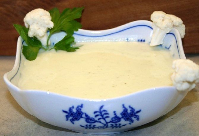 Karfiolkrémleves friss sajttal