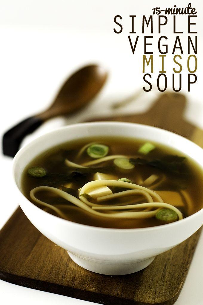 15 Minute Simple Vegan Miso Soup | http://simpleveganblog.com/15-minute-simple-vegan-miso-soup/