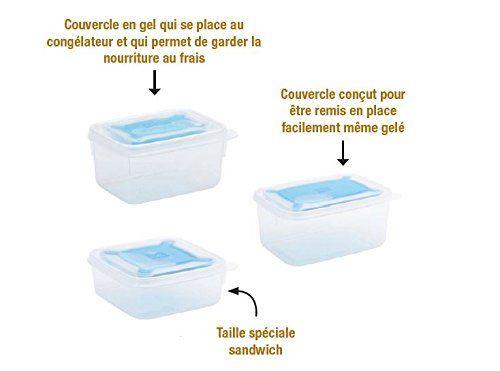 Smash – 8010508 – Nude Food Movers Boîte à Repas avec Couvercle Rafraichisseur – Plastique – Transparent: Des boîtes pour garder, sans…