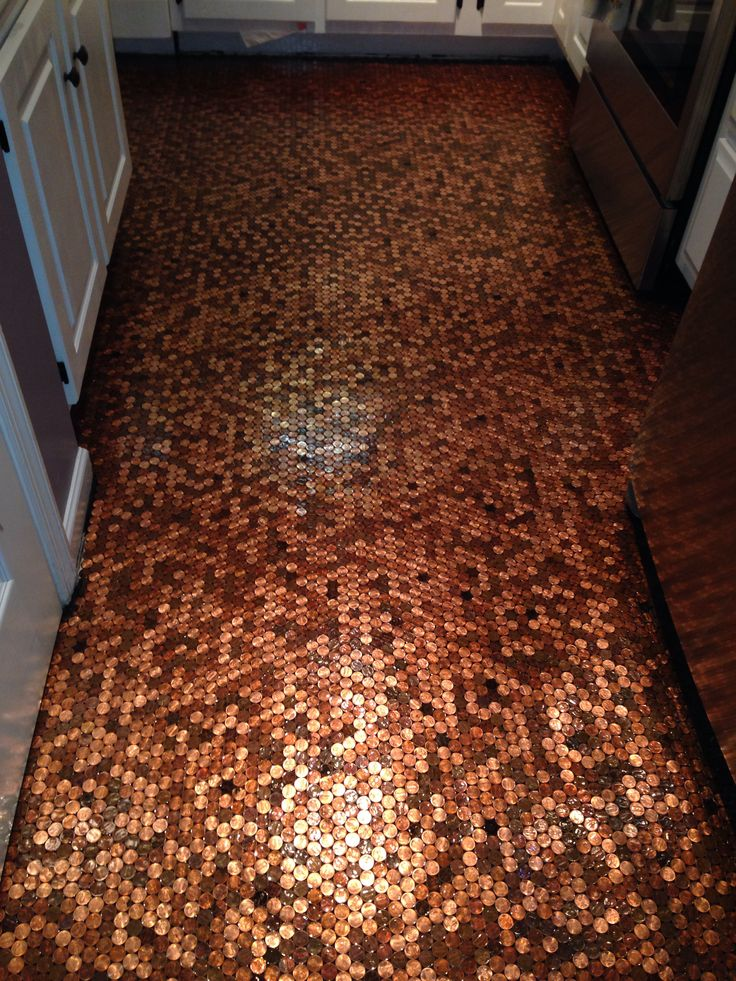 Another Pic Of My Penny Floor My Penny Floor Pinterest