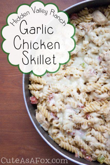 Hidden Valley Ranch Garlic Chicken Skillet with @HiddenValley Ranch. #spon #FavRanchFlav