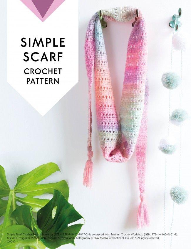 Simple Scarf Crochet Pattern Download Tunisian Crochet Tunisian