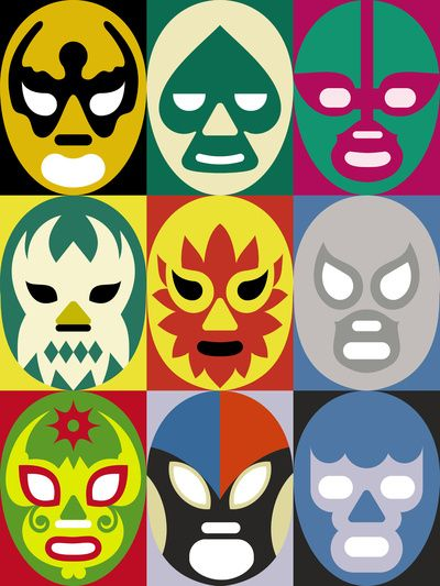 Lucha Libre 1 Art Print